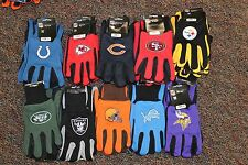 NFL Wincraft Sport Utility Gloves Rubber Dots Grip Choose Your Team Brand New