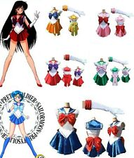 Sailor Moon/Mars/Mercury/Venus Costume Cosplay Uniform Fancy party Dress&Gloves