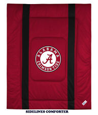 ALABAMA CRIMSON TIDE SIDELINES COMFORTER AND SHAM SET