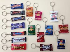 Novelty Assorted  Fimo Clay Packet Keyrings Food & Drink