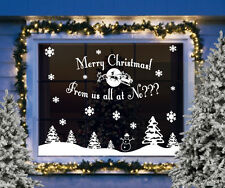 Christmas window vinyl stickers - Merry Christmas from us all at ?????