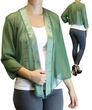 New Women's Plus Size 3/4 Sleeve Olive Bolero Cardigan Sizes 1X 2X 3X 4X 5X 6X