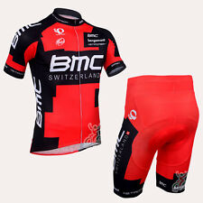 New 2014 Team BMC Cycling Jersey Short Sleeve Bike Jersey Full Zipper Polyester