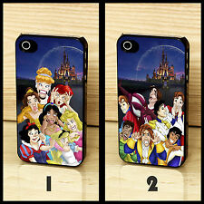 Disney Princess Ariel Snow White Prince Funny Case Cover for iPhone & Samsung