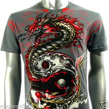Artful T-Shirt Sz M L XL XXL Rock Tattoo Dragon RYU Koi Fish Japanese AG28 D1