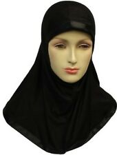 One-Piece Hijab Regular Adult Size - Black / White