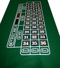 CHOOSE YOUR COLOUR ROULETTE FELT BAIZE LAYOUT - BLUE - GREEN - RED