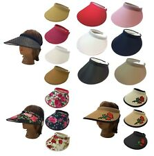 Ladies Women Fashion Large Visor Wide Brim Sun UV Protection Cap Cover Hat