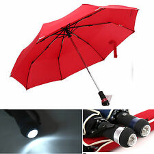 NEW Men's Business Fashion Umberllar with LED Light Automatic folding umbrellas