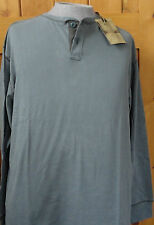 NWT MEN'S HENLEY SHIRT North River 100% Thick Cotton BEIGE GRAY GREEN L XL 2XL