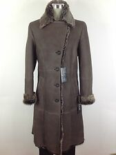Andrew Marc NWT Luxurious and ModerBrown Real Lamb Shearling Coat-Made in Turkey