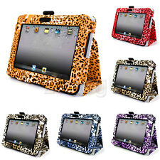 5 Colors Leopard PU Leather Case Stand Pouch Protector For Kindle Fire HD 7