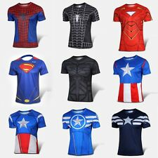 Marvel Avengers Comic T-Shirt Superhero Costume Short Sleeve cycling jersey T001