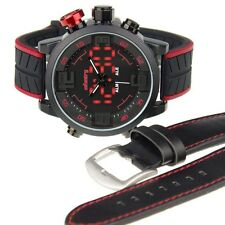INFANTRY Mens Sport Quartz Military Army Digital LED Date Day Black Wrist Watch