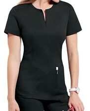 koi Stretch Women's Top Naomi Split Neck Top 242