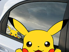 Pokemon Pikachu Anime Reusable Static Window Cling Car Decal 003