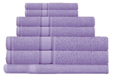 Lilac 100% Cotton Bath Towel Range 7 Pieces Set or Single Pieces Choice