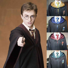 Ravenclaw Harry Potter Robe Cloak Cape Costume /Hufflepuff/Slytherin Halloween