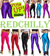 Sports Contrast Push Up Slim Yoga Pants Sports Leggings Tights Foot Solid Colors