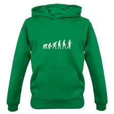 Evolution Of Man Egg and Spoon - Kids / Childrens Hoodie - Sports Day - School