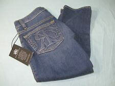 "NWT Rock & Republic $72.00 MSRP  Roskilde "" Huntressed ""  Women's Capri Jeans"