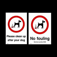 Dog Fouling / Please clean it up - Sign, Sticker - All Sizes & Materials