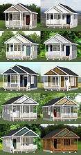 16x28 Tiny Houses -- PDF Floor Plans -- 8:12 Roof Pitch