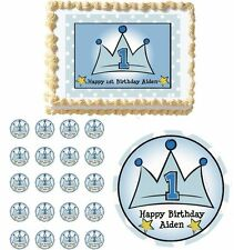 LIL PRINCE Edible Cake Topper Cupcake Image Decoration 1st Birthday