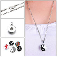 Snap-It Wholesale Charm Necklace Pendant Fit Snap Buttons Jewelry Genuine Locket