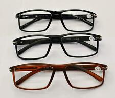MT36 New for 2014 Stylish Retro Reading Glasses with Metal Strip, Black or Brown