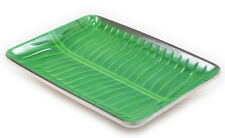 Asian Motif Melamine Serving Tray with Very Attractive Banana Leaf Set of 4 Pcs.