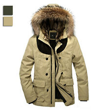 WY0019 New Mens thick winter coat jacket Stitching in the long section outerwear