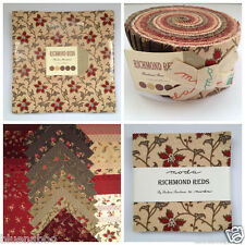 RICHMOND REDS moda jelly roll layer cake charm pack 100 % cotton quilting fabric