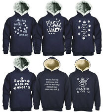 HOODED FUNNY LOGO SWEATSHIRTS DOG PAW PRINT FALLING OF THE HORSE WITH POCKETS