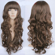New Sexy Womens Girls Wavy Curly Long Hair Full Wigs for Cosplay Xmas Party GBP