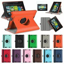 360 PU Rotating Leather Case Cover for Amazon Kindle Fire HD 7 inch 2nd Gen+Film