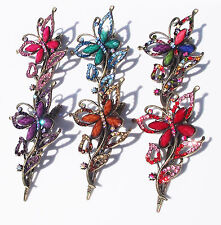 """CHRISTINA 4.25"""" PINK BLUE MULTI RED BROWN PURPLE METAL HAIR CLIP ACCESSORY NEW"""