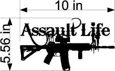 10IN ASSAULT LIFE M4 Auto Scope Handle Rifle decal WINDOW WALL ART New Style 04
