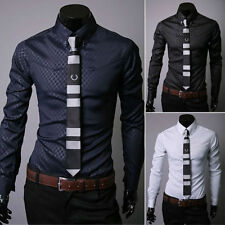2015 Men's Luxury Awsome Formal Casual Slim Fit Long Sleeve Dress Shirt Tops
