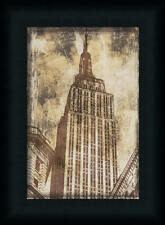 Empire State Building Vintage Style Photography Framed Art Print Décor 12x8