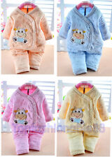 New 2 pcs Newborn Baby clothes boys  girls outfit sets unisex baby warm clothes