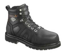 Harley-Davidson Men's Chad Steel Toe 5-In Black Motorcycle Boots. D93176
