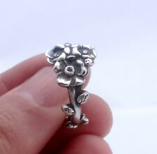 Sterling silver ring Reed & Barton Harlequin floral spoon ring Apple Blossom Thu