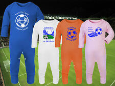 CARDIFF CITY Football Baby Romper Suit Sleep Personalised Cute Gift - Any team
