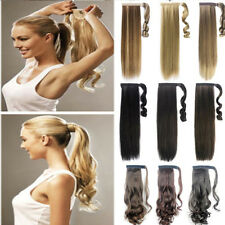 Real Natural Ladies Wrap On Clip In Ponytail Pony Tail Hair Extensions Piece lts
