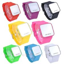 Colorful Pretty Unisex LED Digital Date Time Sport Rubber Wrist Watch Wristwatch