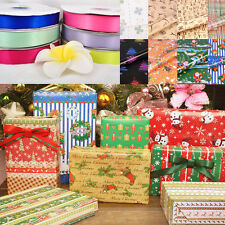 Wrapping Paper with ribbon Gift package For Presents Christmas Birthday New