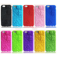 3DRose Flower Peony Sculpture Soft Silicone Rubber Case Cover for iPhone 6 4.7""