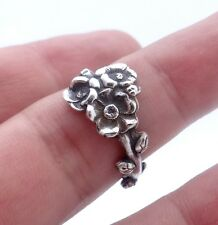 Sterling silver spoon ring Reed & Barton Harlequin floral ring Apple Blossom Tue