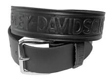 Harley-Davidson Men's Bar & Shield Winged Embossed Leather Belt HD-12